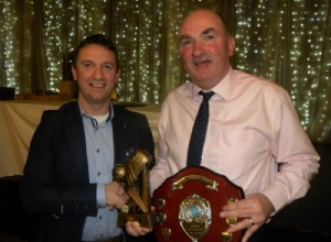 Senior POTY - Dermot McAleese. Trophy received by Gerard McAleese